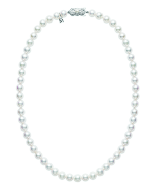 Mikimoto 18ct White Gold 5.5-6mm Pearl Necklace