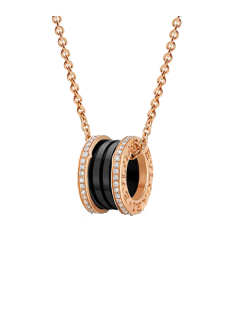 Bulgari BZero1 Pink gold and Black Ceramic pendant