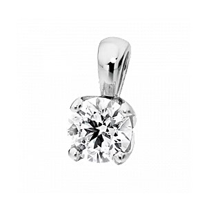 18ct White Gold 0.60ct Diamond Pendant