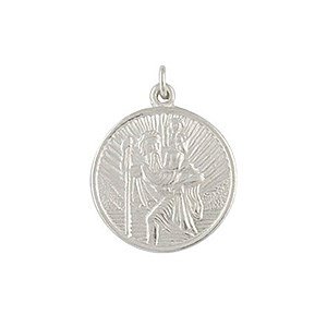 Sterling Silver St. Christopher Pendant