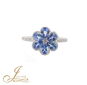 ring cts cut diamond product page cushion gold tanzanite
