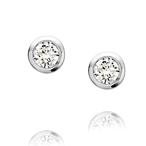 18ct white gold diamond studs 0.60ct