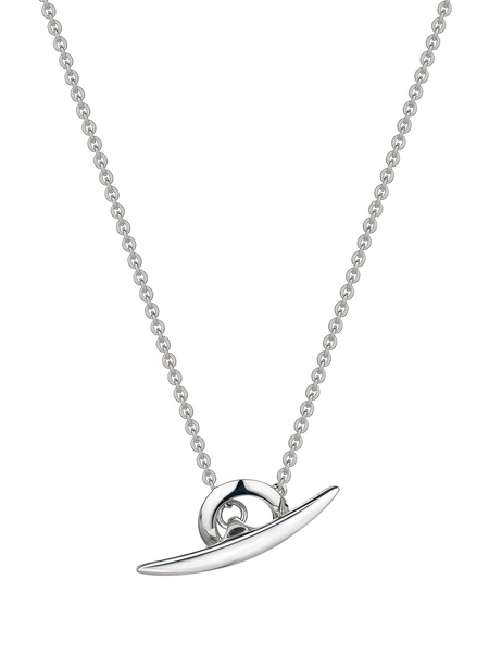 Shaun Leane Silver Arc T-Bar Necklace