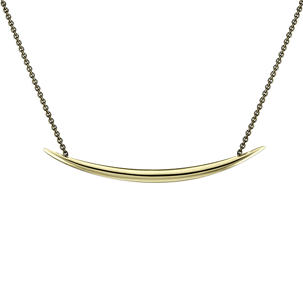 Shaun Leane Yellow Gold Vermeil Quill Pendant