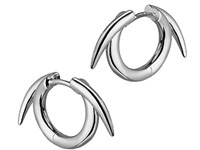 Shaun Leane Silver Thorn Hoop Earrings