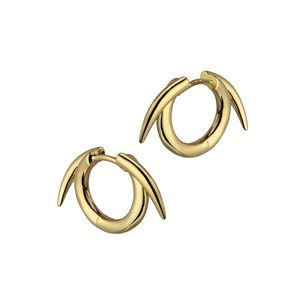 Shaun Leane Yellow Gold Vermiel Thorn Hoop Earrings