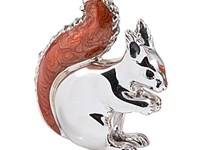 Sterling Silver + Enamel Large Squirrel