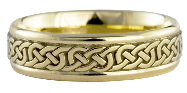 9ct yellow gold Celtic wedding ring