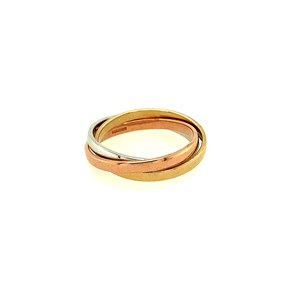 9ct White, Yellow & Rose Gold Russian Wedding Bands