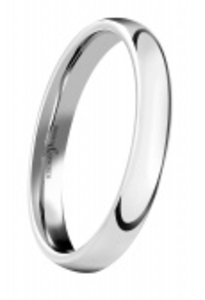 Platinum 2.5mm court shaped wedding ring