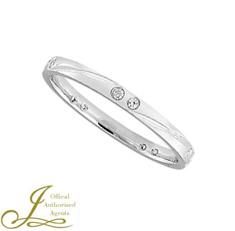 2mm court diamond set band