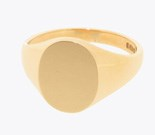 10x8mm 9ct yellow gold oval signet ring