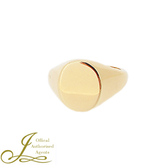 12x10mm Oval Signet Ring