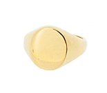 14 x 12mm Oval Signet Ring