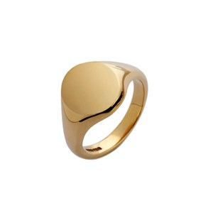 9ct Yellow Gold Oval Shaped Signet Ring