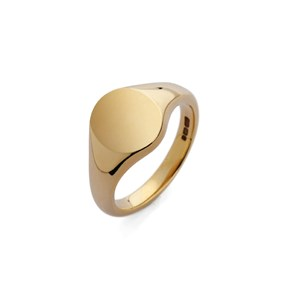 18ct Yellow Gold Oval Signet Ring