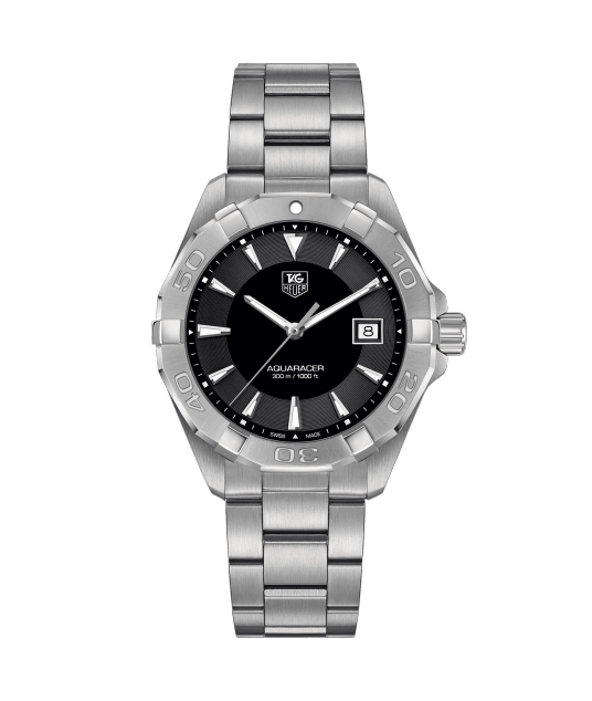 Tag Heuer 40.5mm circular stainless steel  Aquaracer watch
