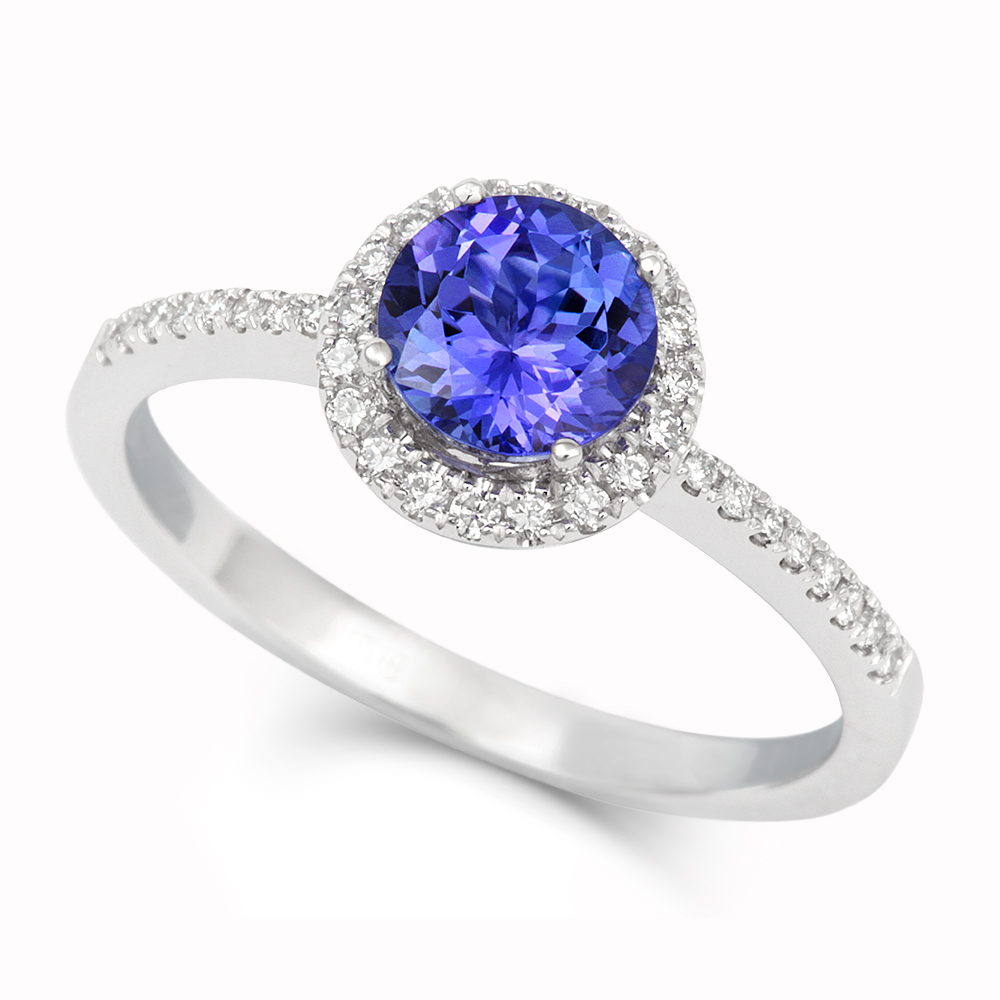 TIVON Tanzanite + Diamond Ring