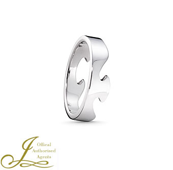 Georg Jensen Fusion 18ct White Gold End Ring