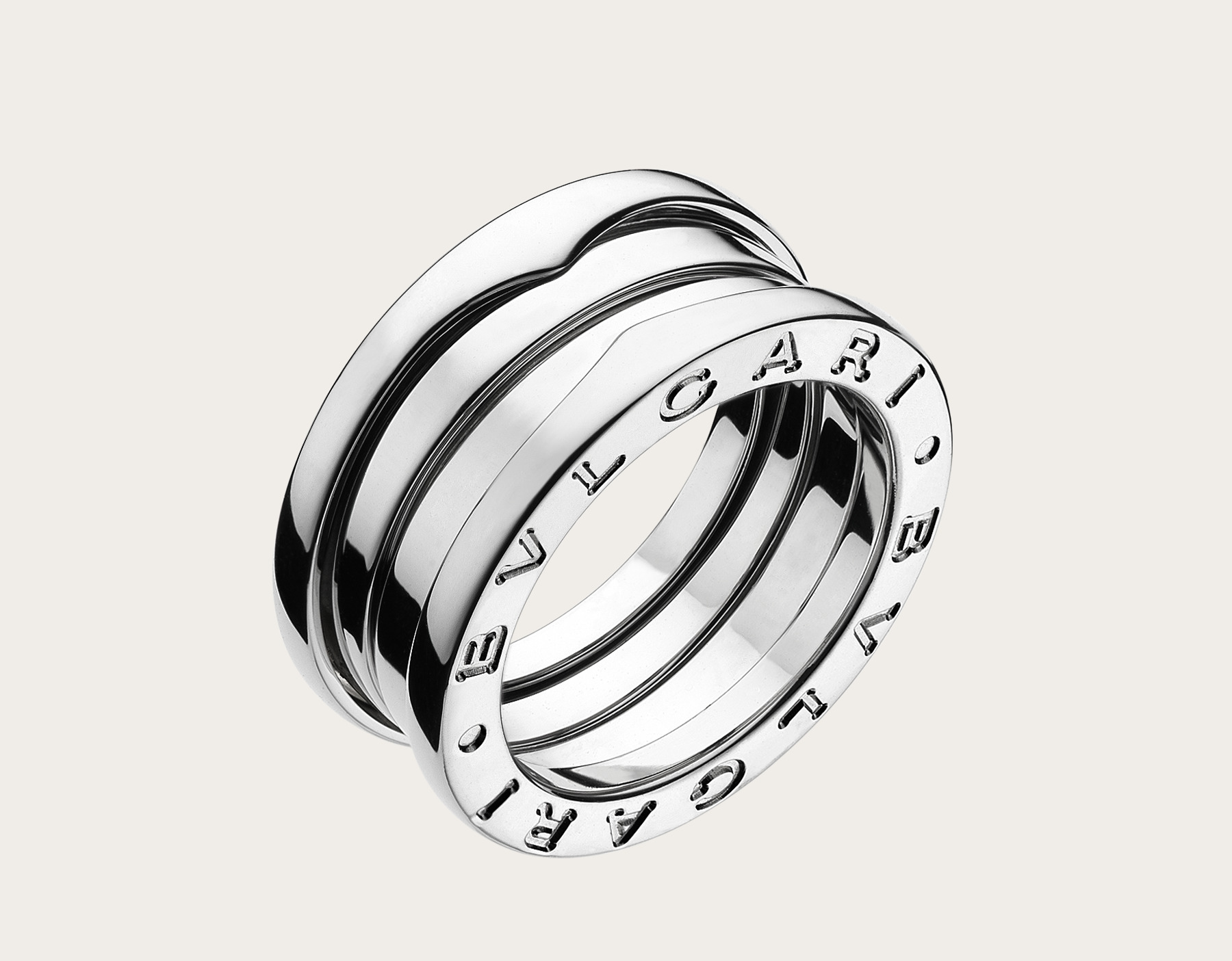 Bulgari BZero1 18ct white gold 4 band ring - Size 55