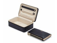 WOLF Maria Navy Medium Zip Jewellery Case